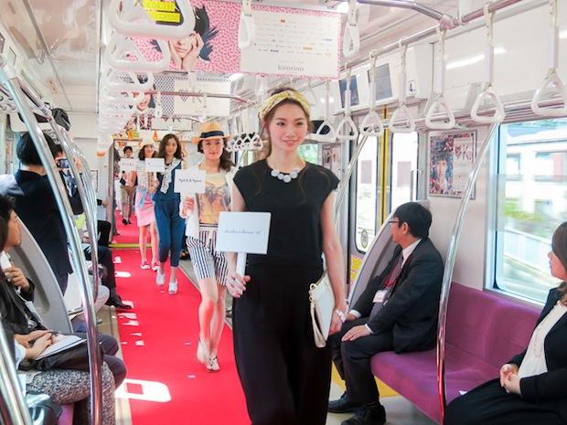 kirarina-fashion-show-train-keio-inokashira-line-tokyo-1