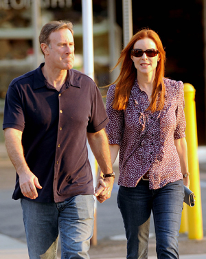 Marcia Cross and Husband Tom Mahoney take a romantic sunset stroll, LA