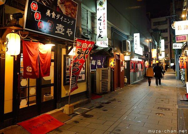 Salah satu pemandangan jalan di Nakasu pada malam hari
