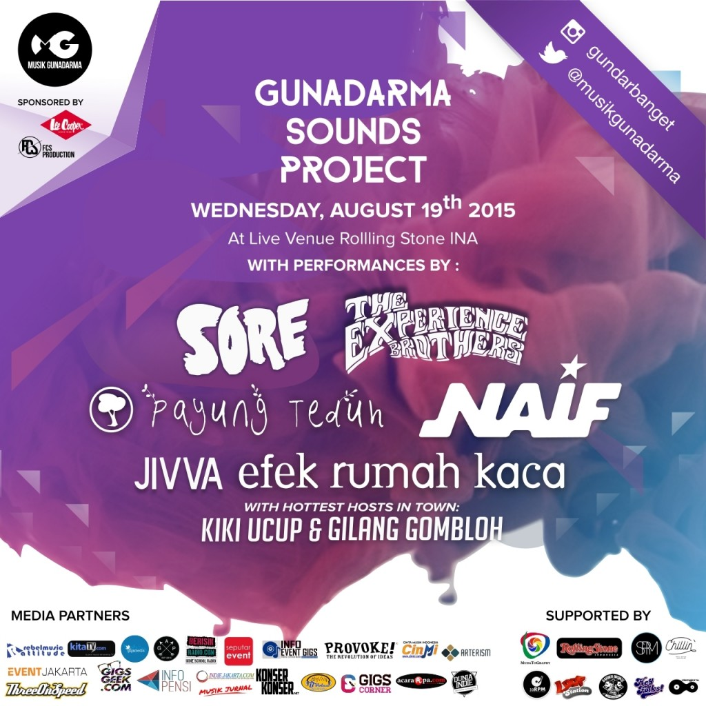 poster event gunadarman sounds project 2015