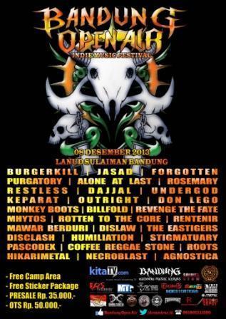 poster bandung open air boa 2013