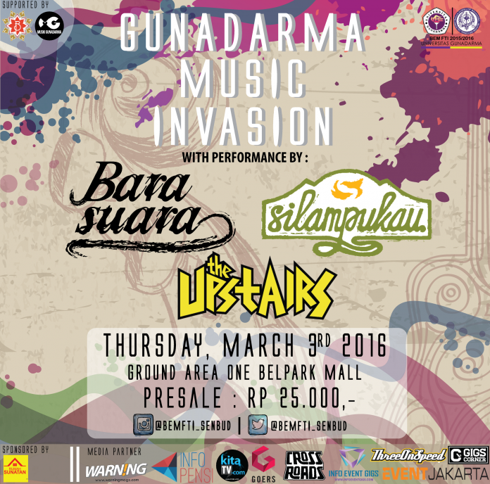 event musik gunadarma music invasion 2016