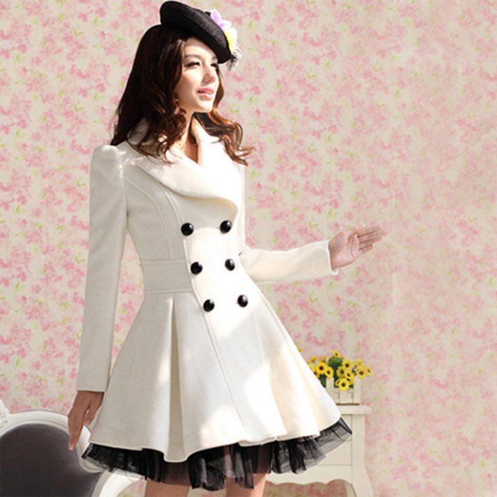 white coat - Gaya Fashion Jepang 2016