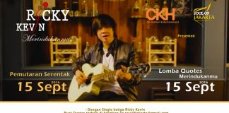 poster lomba quote merindukanmu ricky kevin