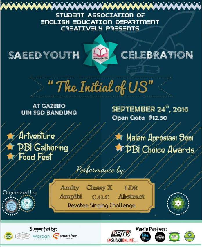 SAEED CELEBRATION poster promo
