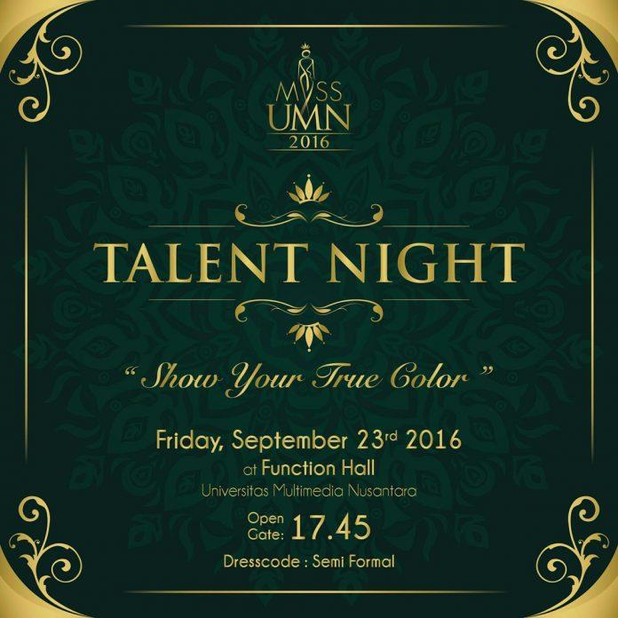 poster promo talent night miss umn 2016