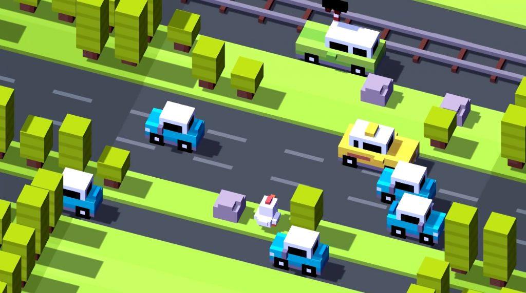 bermain sebagai ayam yang akan menyeberang jalan, cobalah utuk tidak tertabrak kendaraan