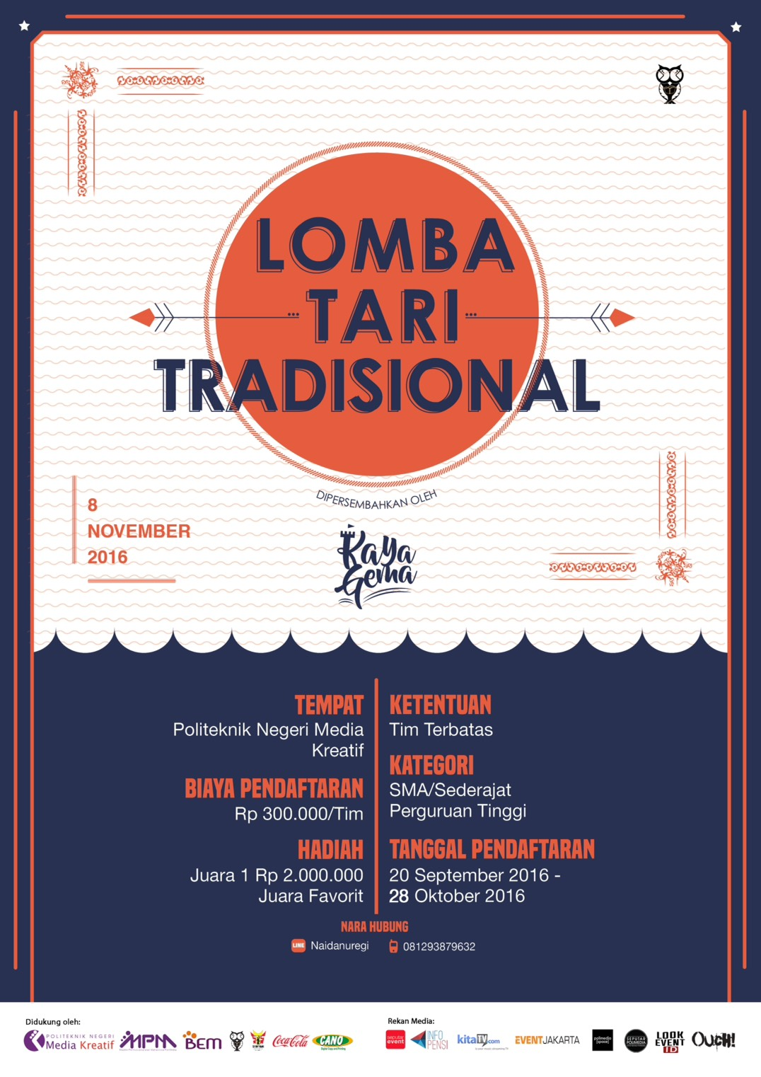poster lomba tari tradisional kaya gema