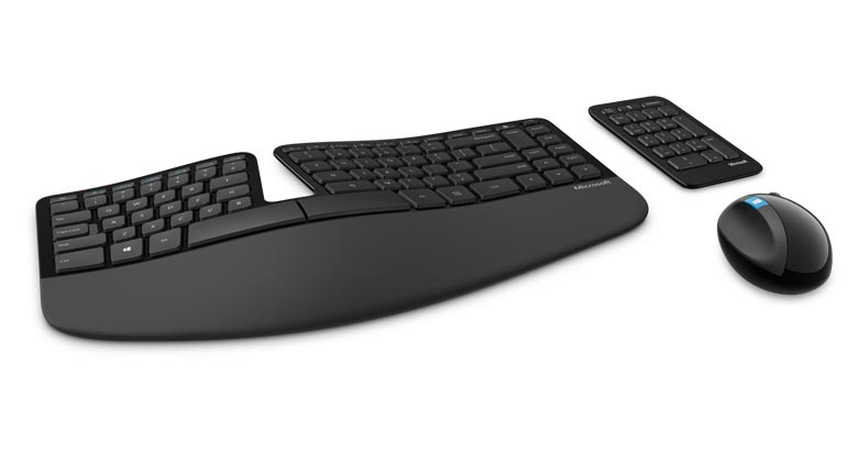 Recommended keyboard dengan berbagai merk salah satunya Microsoft Sculpt Ergonomic Desktop