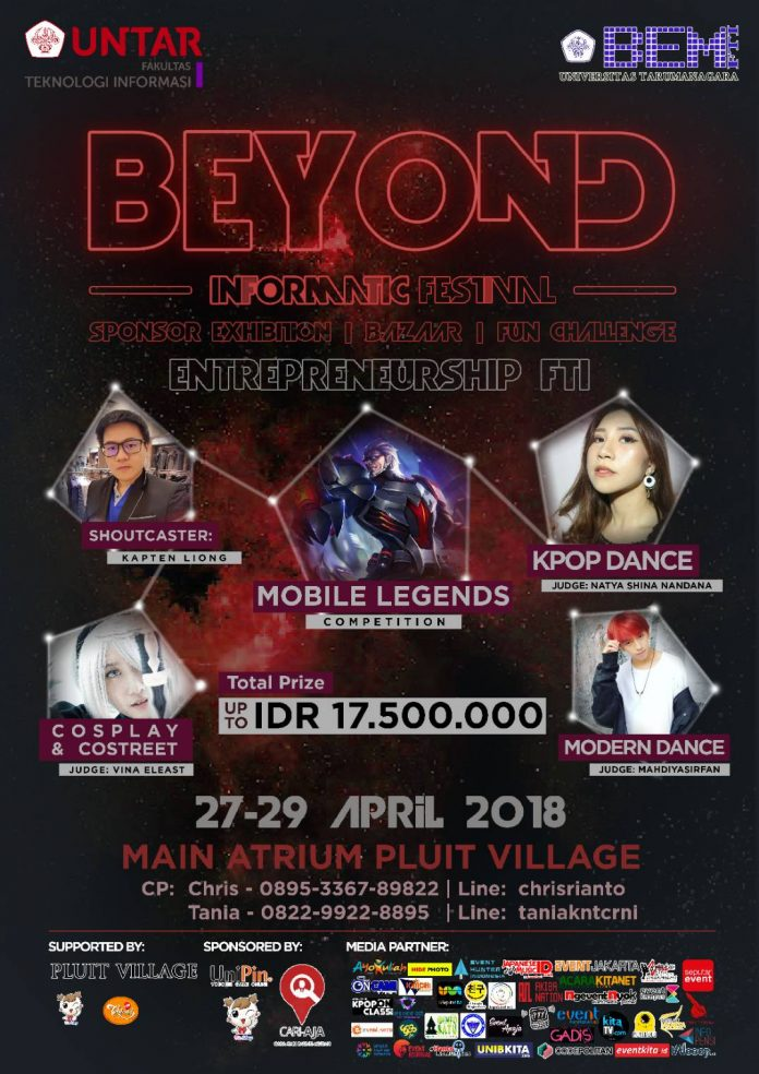 Poster promo event beyond informatic festival 2018