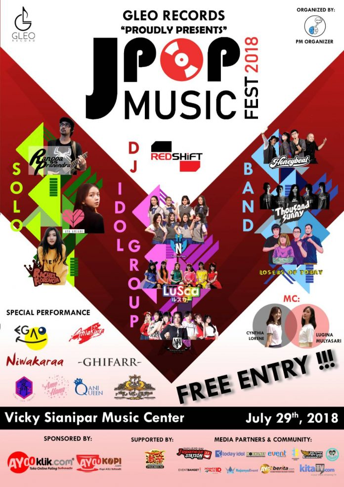 poster promo event j-pop music festival 2018