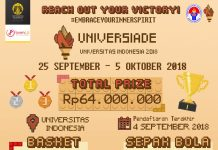 poster promo event Universiade UI 2018