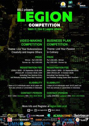 poster promo event legion 2018-2