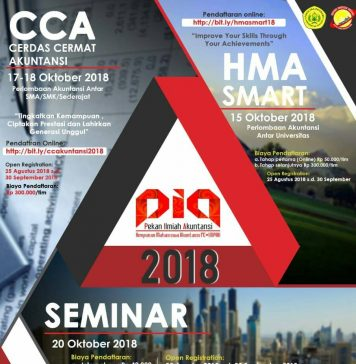 Poster event Pekan Ilmiah Akuntansi 2018