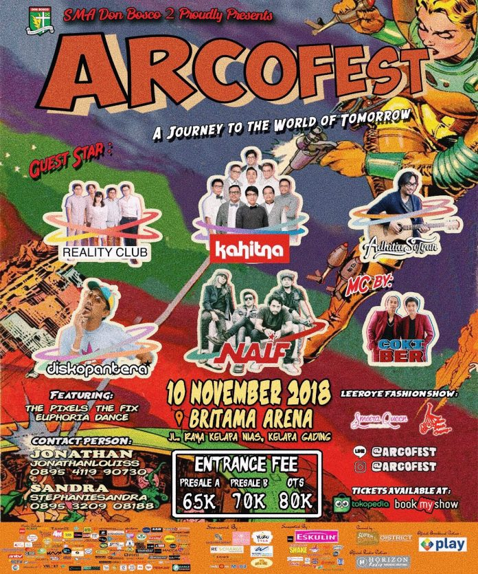 poster promo event arcofest 2018