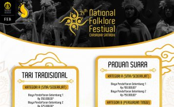 Poster event 14th national folklore festival